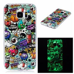 Trash Noctilucent Soft TPU Back Cover for Samsung Galaxy S7 Edge