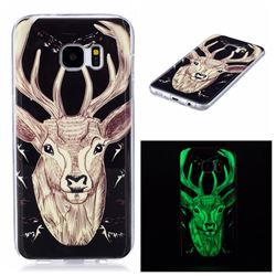 Fly Deer Noctilucent Soft TPU Back Cover for Samsung Galaxy S7 Edge