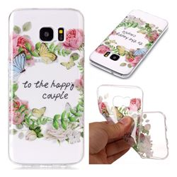 Green Leaf Rose Super Clear Soft TPU Back Cover for Samsung Galaxy S7 Edge s7edge