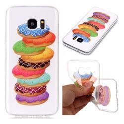 Melaleuca Donuts Super Clear Soft TPU Back Cover for Samsung Galaxy S7 Edge s7edge