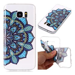 Peacock flower Super Clear Soft TPU Back Cover for Samsung Galaxy S7 Edge s7edge
