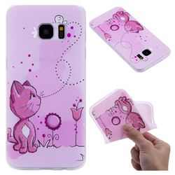 Cat and Bee 3D Relief Matte Soft TPU Back Cover for Samsung Galaxy S7 Edge s7edge