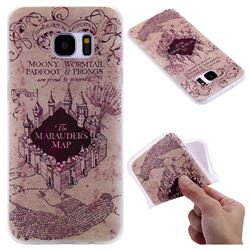 Castle The Marauders Map 3D Relief Matte Soft TPU Back Cover for Samsung Galaxy S7 Edge s7edge