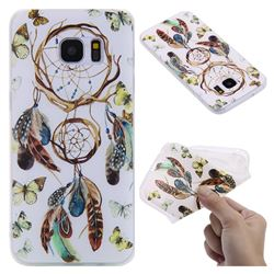 Color Wind Chimes 3D Relief Matte Soft TPU Back Cover for Samsung Galaxy S7 Edge s7edge