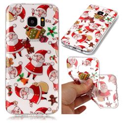 Santa Claus Super Clear Soft TPU Back Cover for Samsung Galaxy S7 Edge s7edge