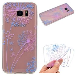 Rainbow Dandelion Super Clear Soft TPU Back Cover for Samsung Galaxy S7 Edge s7edge