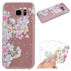 Peach Super Clear Soft TPU Back Cover for Samsung Galaxy S7 Edge s7edge