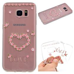 Heart Garland Super Clear Soft TPU Back Cover for Samsung Galaxy S7 Edge s7edge
