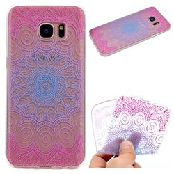 Colored Mandala Super Clear Soft TPU Back Cover for Samsung Galaxy S7 Edge s7edge