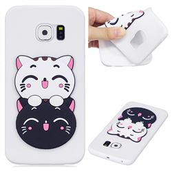 Couple Cats Soft 3D Silicone Case for Samsung Galaxy S7 Edge s7edge