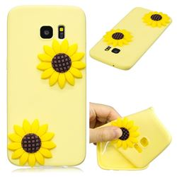 Yellow Sunflower Soft 3D Silicone Case for Samsung Galaxy S7 Edge s7edge