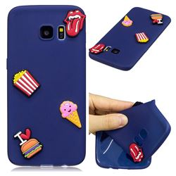 I Love Hamburger Soft 3D Silicone Case for Samsung Galaxy S7 Edge s7edge