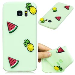 Watermelon Pineapple Soft 3D Silicone Case for Samsung Galaxy S7 Edge s7edge