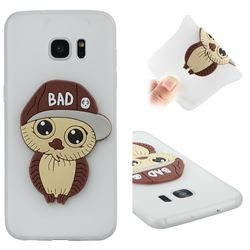 Bad Boy Owl Soft 3D Silicone Case for Samsung Galaxy S7 Edge s7edge - Translucent White