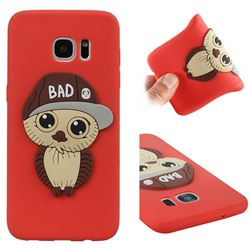 Bad Boy Owl Soft 3D Silicone Case for Samsung Galaxy S7 Edge s7edge - Red