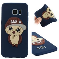 Bad Boy Owl Soft 3D Silicone Case for Samsung Galaxy S7 Edge s7edge - Navy