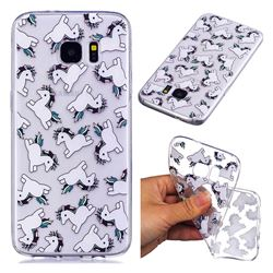 Pony Unicorn Super Clear Soft TPU Back Cover for Samsung Galaxy S7 Edge s7edge