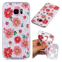 Chrysant Flower Super Clear Soft TPU Back Cover for Samsung Galaxy S7 Edge s7edge