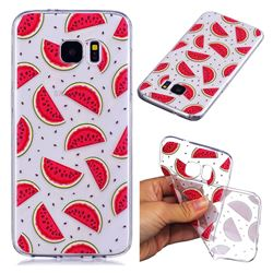 Red Watermelon Super Clear Soft TPU Back Cover for Samsung Galaxy S7 Edge s7edge