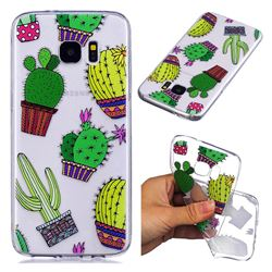 Cactus Ball Super Clear Soft TPU Back Cover for Samsung Galaxy S7 Edge s7edge