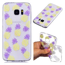 Carton Pineapple Super Clear Soft TPU Back Cover for Samsung Galaxy S7 Edge s7edge
