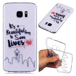 Line Castle Super Clear Soft TPU Back Cover for Samsung Galaxy S7 Edge s7edge