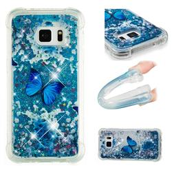 Flower Butterfly Dynamic Liquid Glitter Sand Quicksand Star TPU Case for Samsung Galaxy S7 Edge s7edge