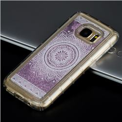 Mandala Glassy Glitter Quicksand Dynamic Liquid Soft Phone Case for Samsung Galaxy S7 Edge s7edge