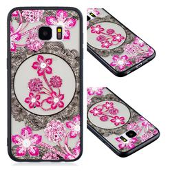 Daffodil Lace Diamond Flower Soft TPU Back Cover for Samsung Galaxy S7 Edge s7edge