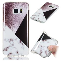 Black white Grey Soft TPU Marble Pattern Phone Case for Samsung Galaxy S7 Edge s7edge