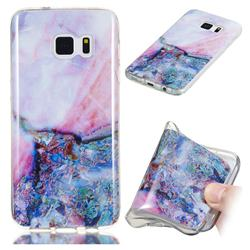 Purple Amber Soft TPU Marble Pattern Phone Case for Samsung Galaxy S7 Edge s7edge