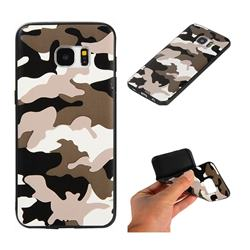 Camouflage Soft TPU Back Cover for Samsung Galaxy S7 Edge s7edge - Black White
