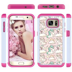 Pink Pony Shock Absorbing Hybrid Defender Rugged Phone Case Cover for Samsung Galaxy S7 Edge s7edge