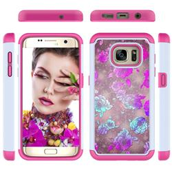peony Flower Shock Absorbing Hybrid Defender Rugged Phone Case Cover for Samsung Galaxy S7 Edge s7edge