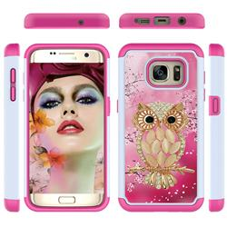 Seashell Cat Shock Absorbing Hybrid Defender Rugged Phone Case Cover for Samsung Galaxy S7 Edge s7edge