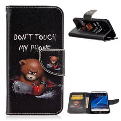 Chainsaw Bear Leather Wallet Case for Samsung Galaxy S7 Edge G935