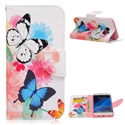 Vivid Flying Butterflies Leather Wallet Case for Samsung Galaxy S7 Edge G935