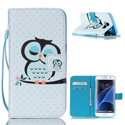 Sweet Owl Leather Wallet Case for Samsung Galaxy S7 Edge G935