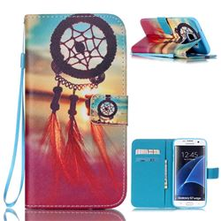 Sunset Dream Catcher Leather Wallet Case for Samsung Galaxy S7 Edge G935