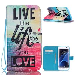 Live the Life Leather Wallet Case for Samsung Galaxy S7 Edge G935