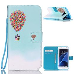 Hot Air Balloon Leather Wallet Case for Samsung Galaxy S7 Edge G935