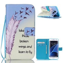 Learn to Fly Leather Wallet Case for Samsung Galaxy S7 Edge G935
