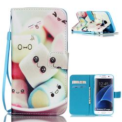 Marshmallow Leather Wallet Case for Samsung Galaxy S7 Edge G935