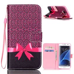 Bowknot Leather Wallet Case for Samsung Galaxy S7 Edge G935