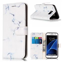 Soft White Marble PU Leather Wallet Case for Samsung Galaxy S7 Edge G935