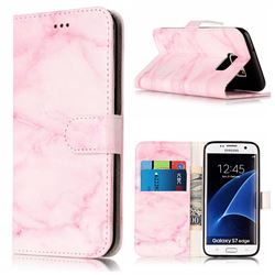 Pink Marble PU Leather Wallet Case for Samsung Galaxy S7 Edge G935