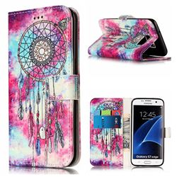 Butterfly Chimes PU Leather Wallet Case for Samsung Galaxy S7 Edge G935