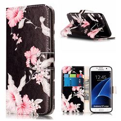 Azalea Flower PU Leather Wallet Case for Samsung Galaxy S7 Edge G935