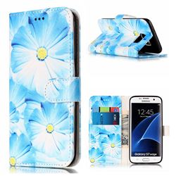 Orchid Flower PU Leather Wallet Case for Samsung Galaxy S7 Edge G935