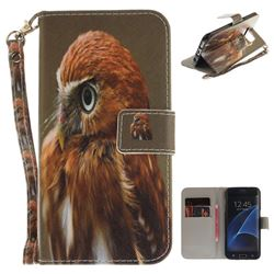 Young Eagle Hand Strap Leather Wallet Case for Samsung Galaxy S7 Edge s7edge